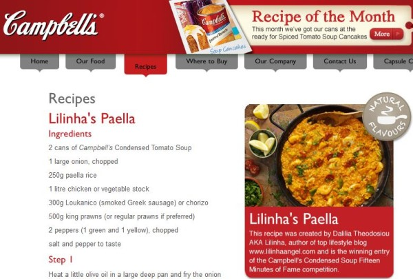 Campbell Soup - Lilinha Paella