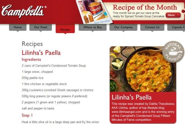 Campbell Soup - Lilinha Paella