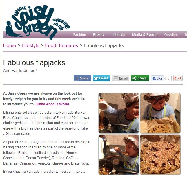 Daisy Green Magazine - Fabulous Flapjacks