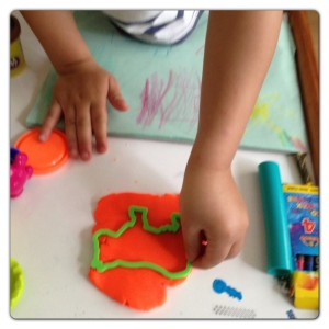 Using Play Doh to Make Animals