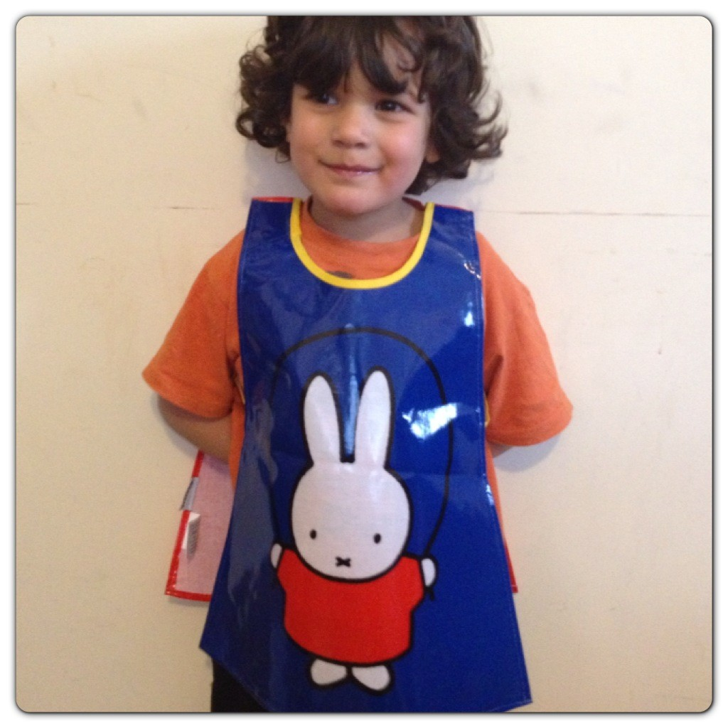 Little Man Ready to Paint with Miffy's Tabard