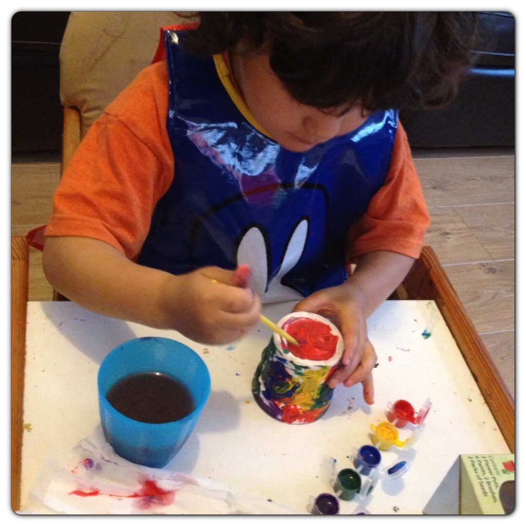 Little Man Painting with Miffy's Tabard