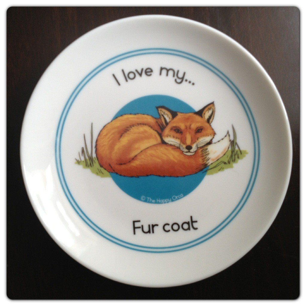 Fine China Side Plate I love my Fur