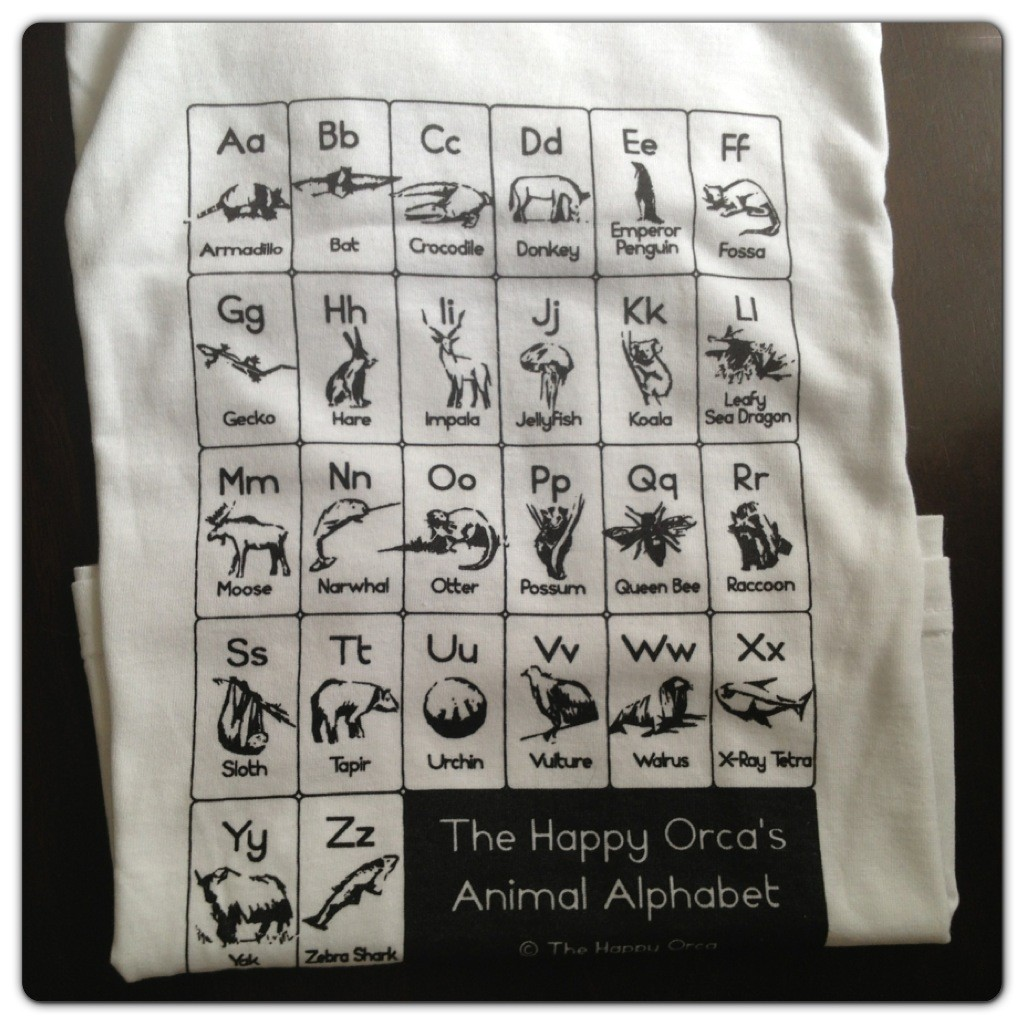 The Happy Orca Animal Alphabet Kids T-shirt