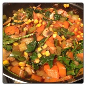 Vegetables for Lasagne