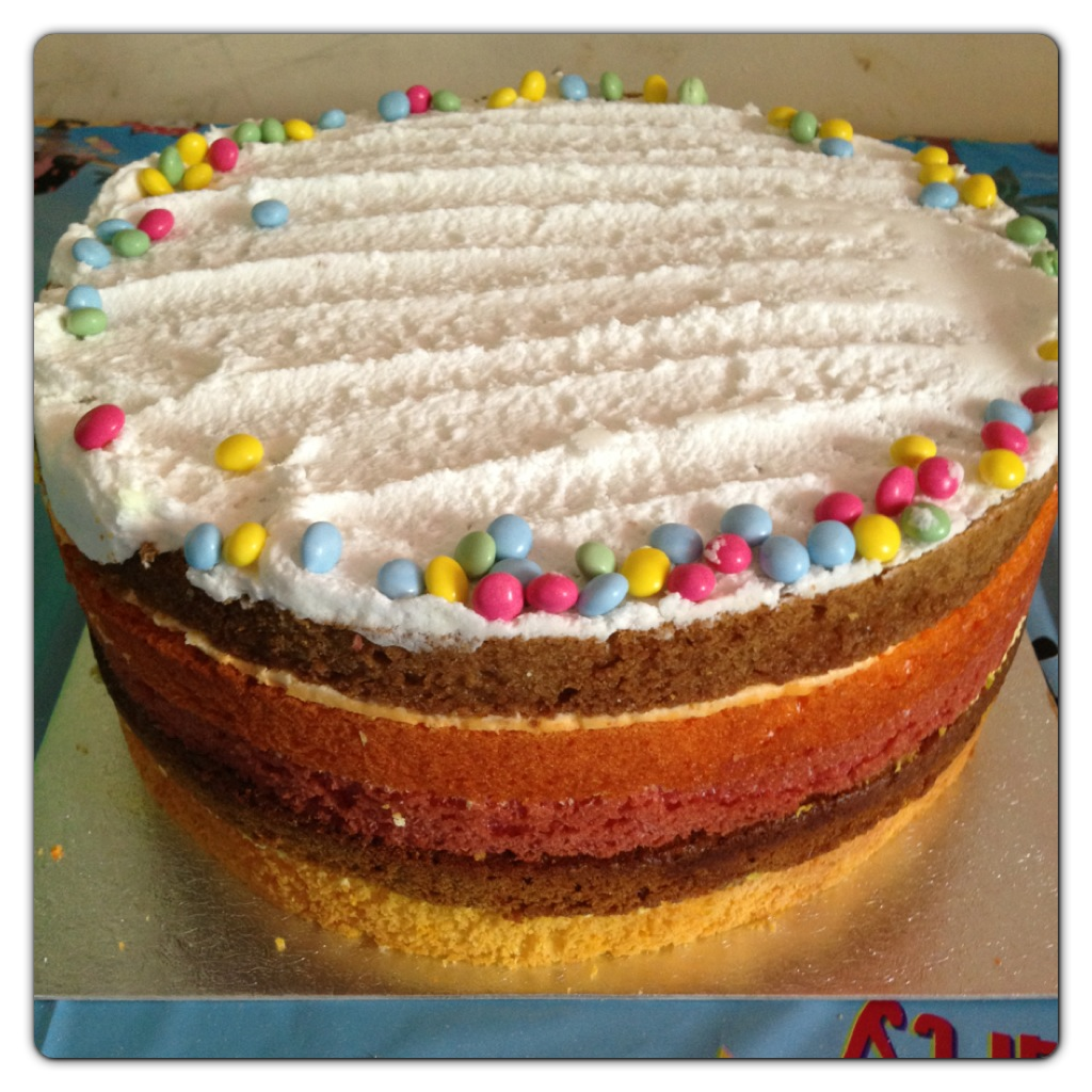 Celebrate with cakes and cupcakes by asda lilinha angels world rainbow cake sciox Images