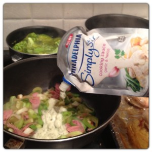 Chicken with Leek and Ham