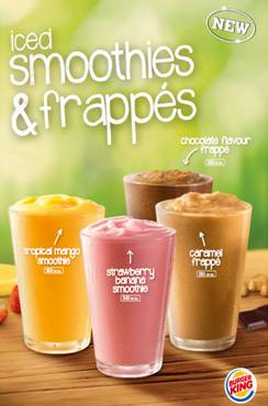 BURGER KING To Launch Refreshing New Range Of Iced Smoothies