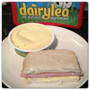 Mighty Mature Dairylea and Ham Sandwich