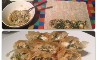 Recipe 3: Spinach and Feta Filo Pastry