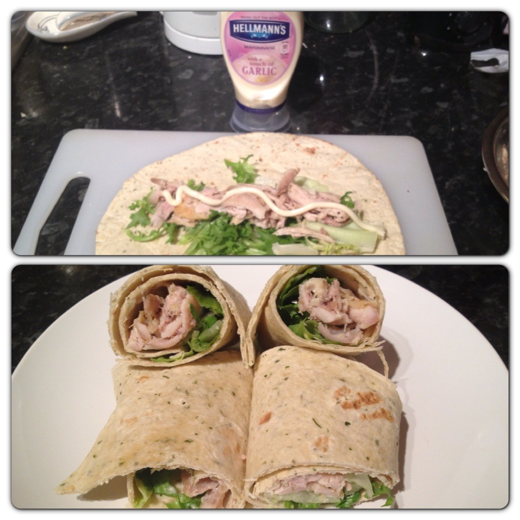 Recipe 4: Garlic Chicken Mayo Wrap