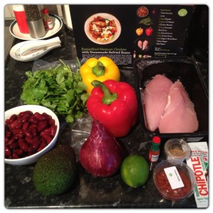 Butterflied Mexican Chicken with Homemade Refried Beans Ingredients