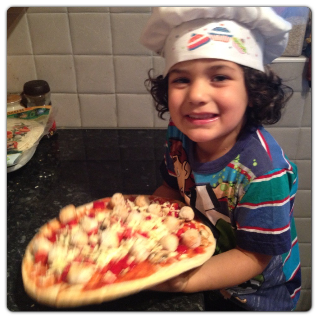 Cooking with Kids: Mini Meatballs Pizza Recipe