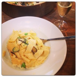 Pasta with Broad Beans and Courgettes