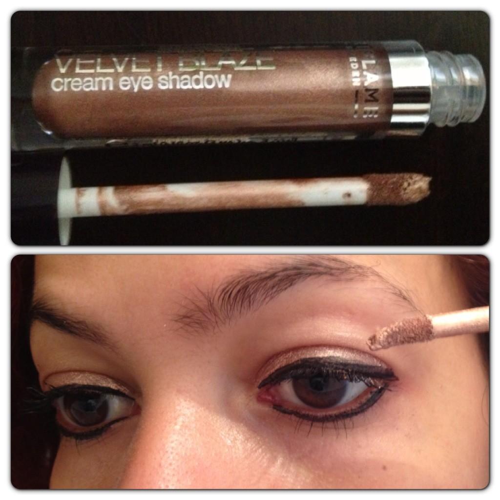 Velvet Blaze Cream Eye Shadow in Sand Shimmer