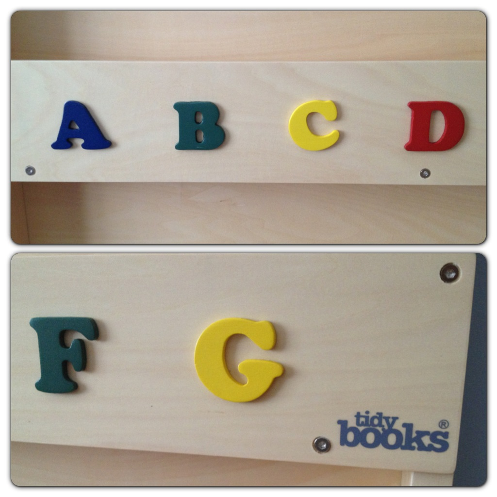 Tidy Books Bookcase Letters