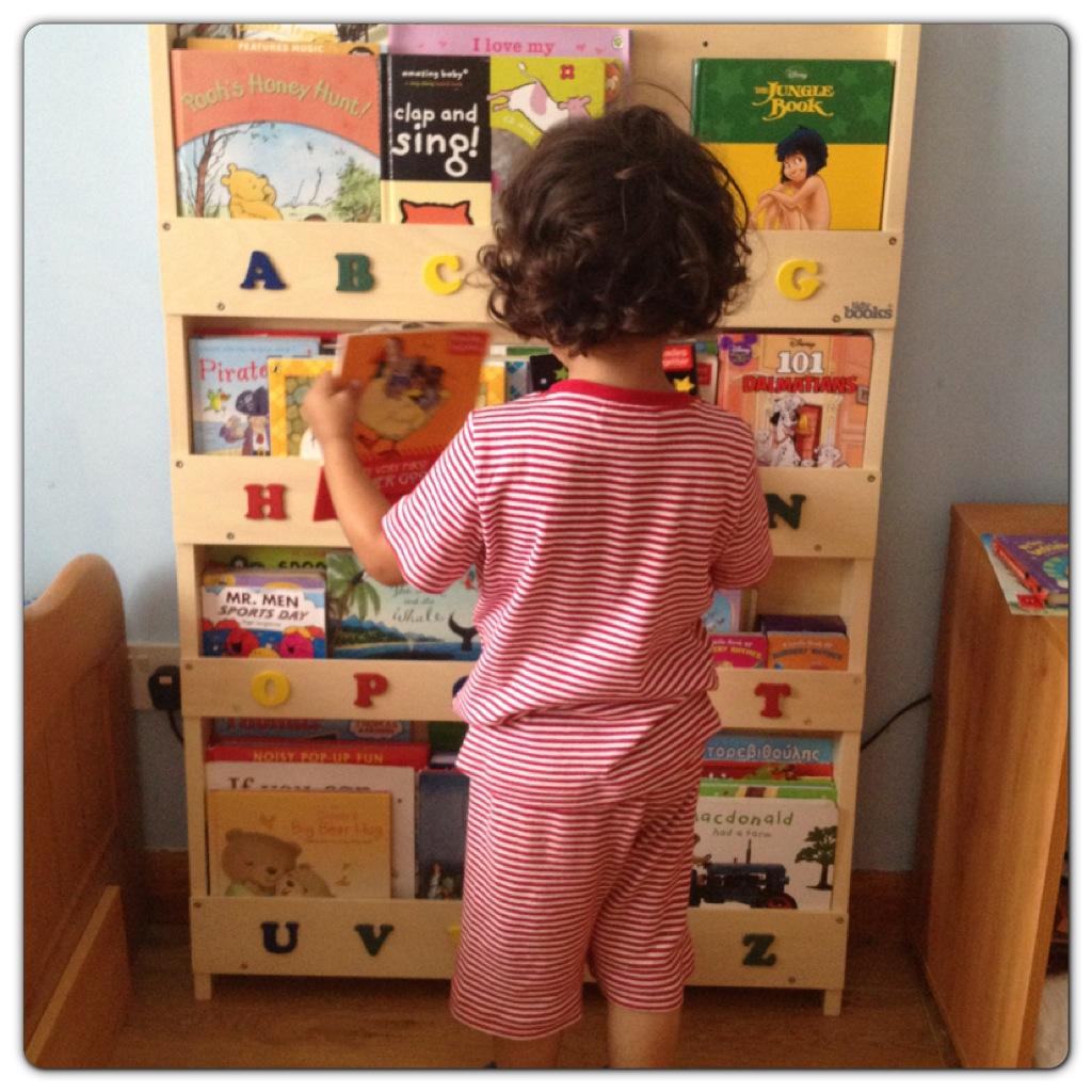 Little Man Choosing a Book