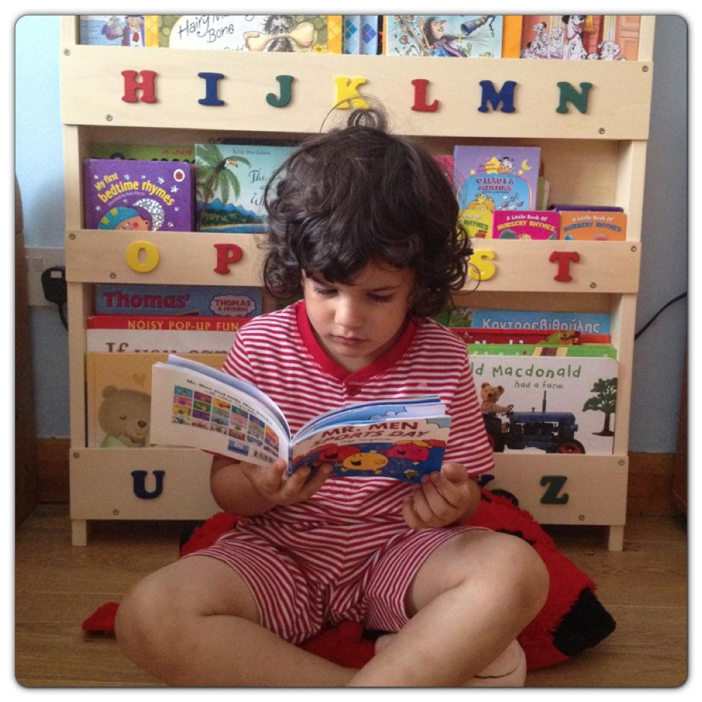 Little Man Reading Books