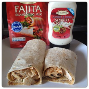 Chicken Fajita with Garlic & Herb Soured Cream
