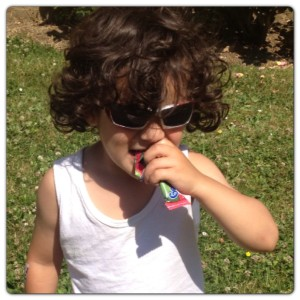 Little Man Enjoying Organix