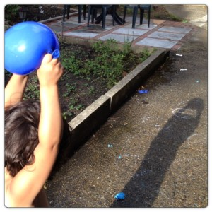 Throwing Water Balloons