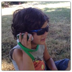 Little Man Chatting on 1stFone
