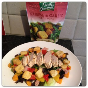 Chicken and Sweet Potato Salad with Fresh Gourmet Croutons