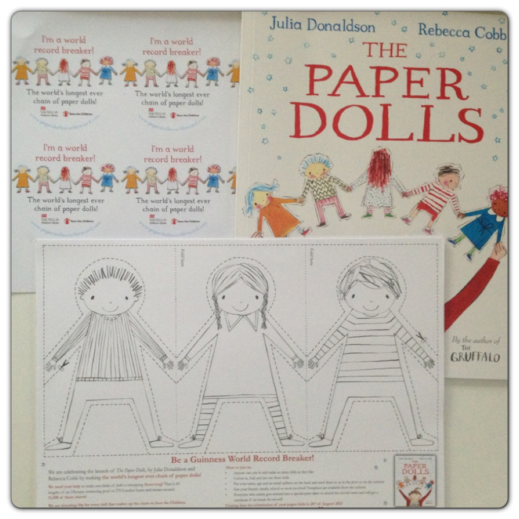 String Of Paper Dolls Template Record of paper dolls