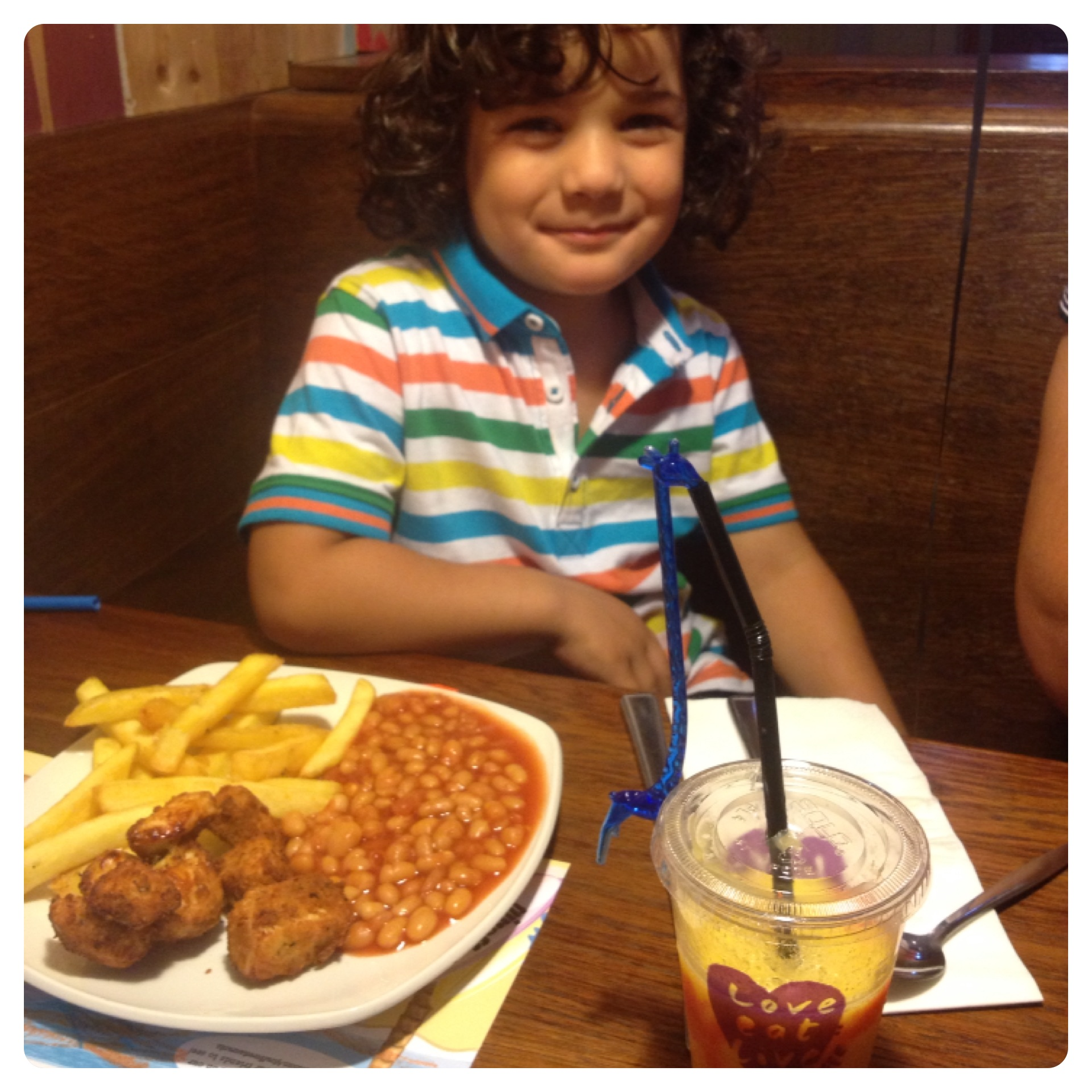 Kids Meal at Giraffe Restaurant