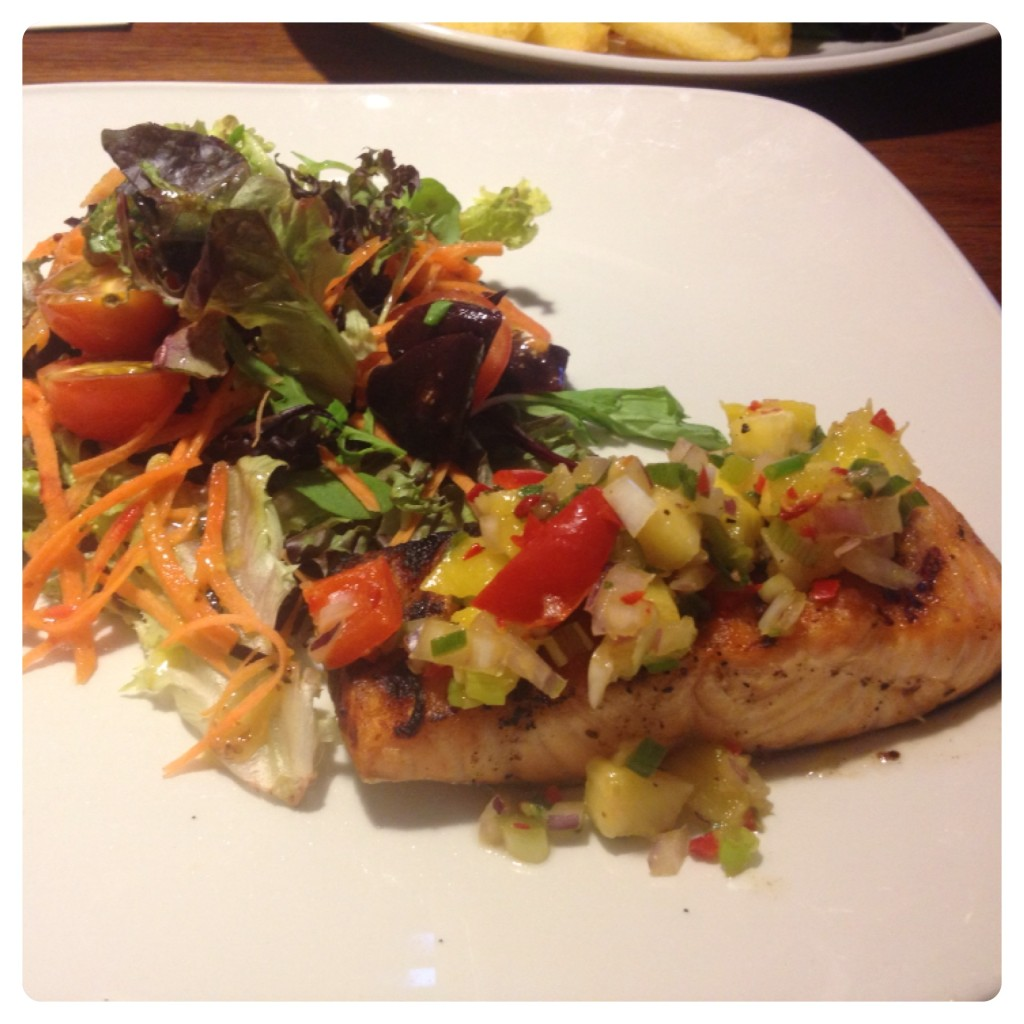 Simply Grilled Salmon with Salad