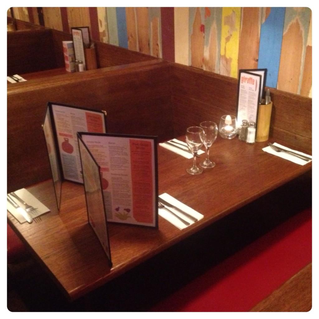 Giraffe Restaurant at Muswell Hill