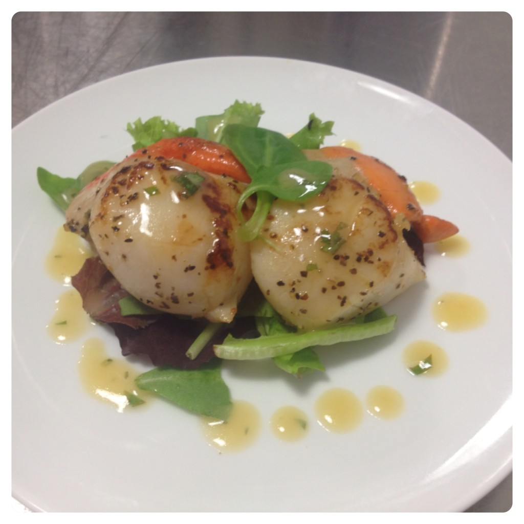 Pan fried Scallops with Beurre Blanc