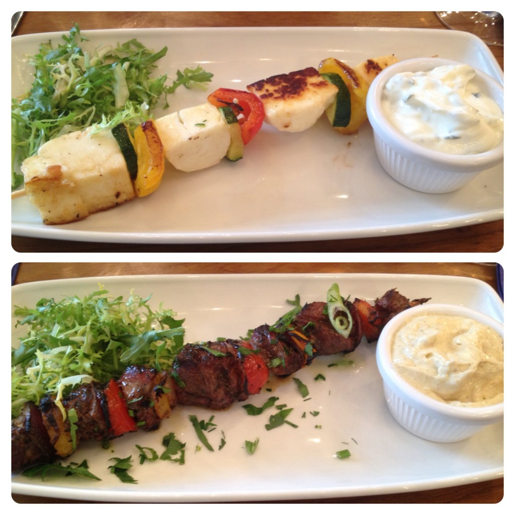 Haloumi and Lamb Skewers