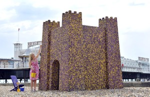 Cadbury Pebbles Castle at Brighton Beach