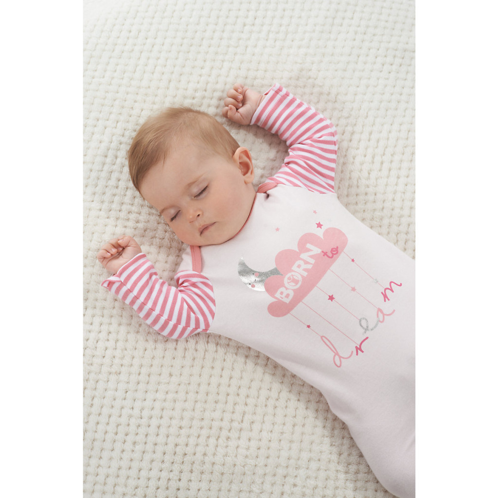 Mothercare Girls Born To Dream Sleepsuit