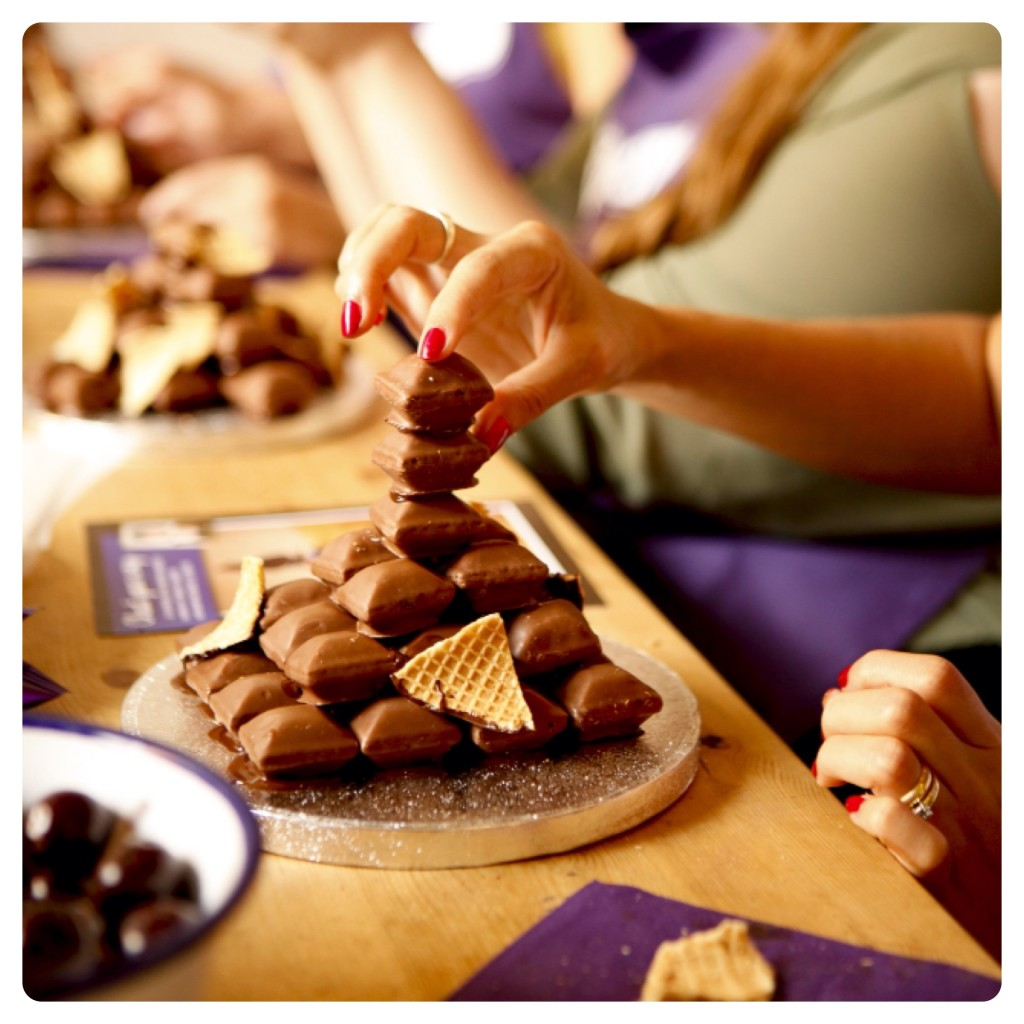 Making a Cadbury Crispello Tower