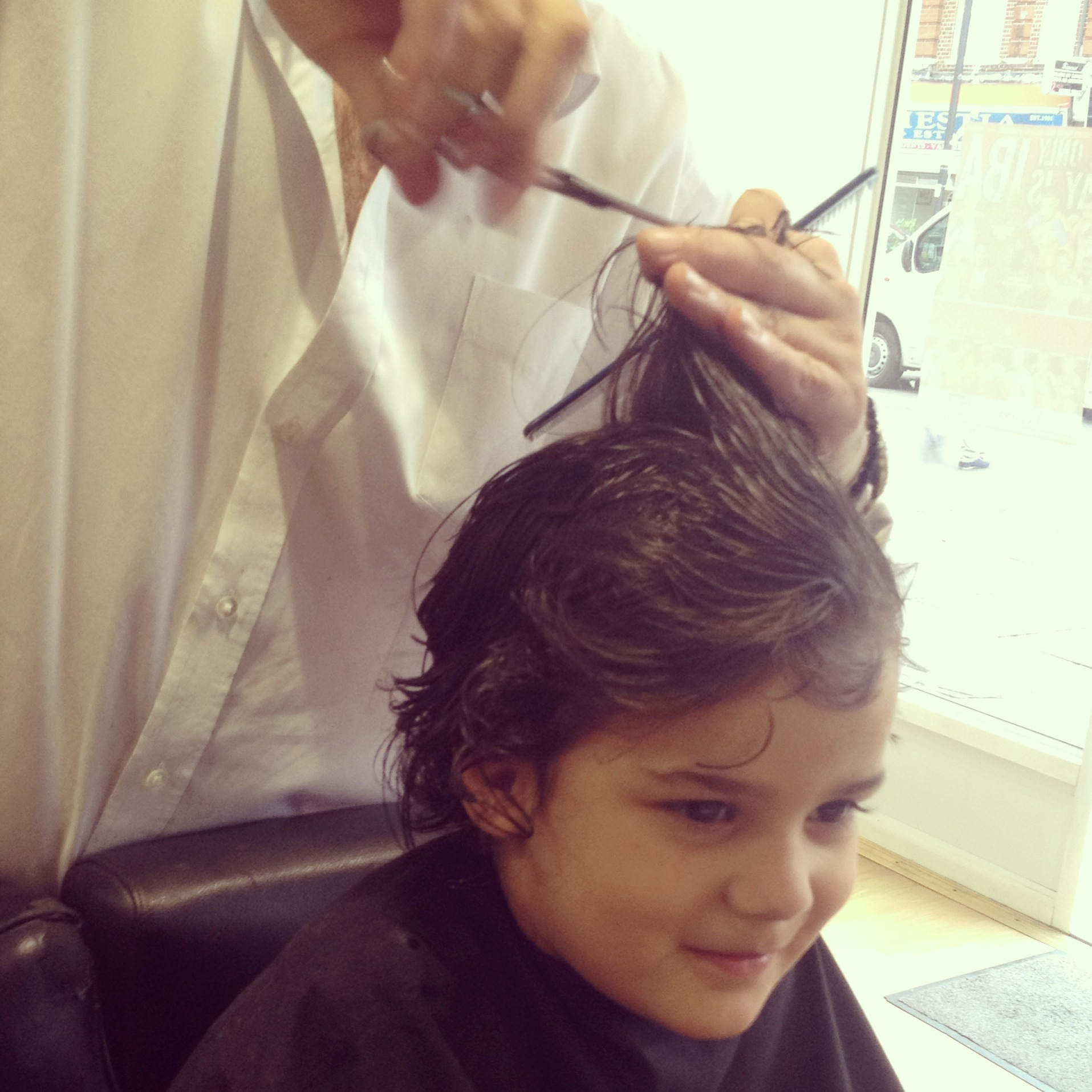 Little Man Having a Haircut