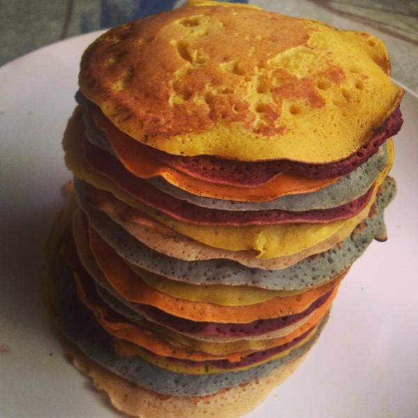 Pancake Rainbow Stack