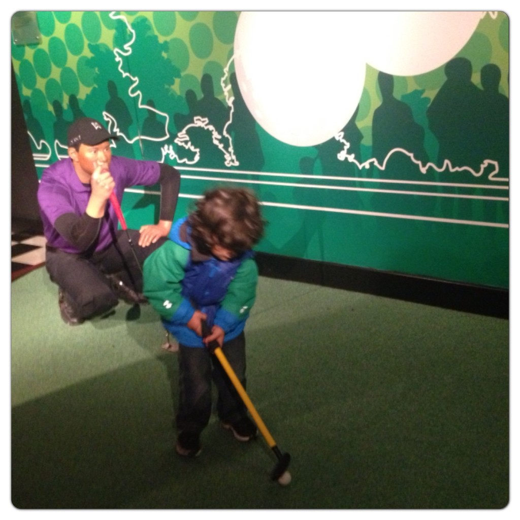 Golf at Madame Tussauds