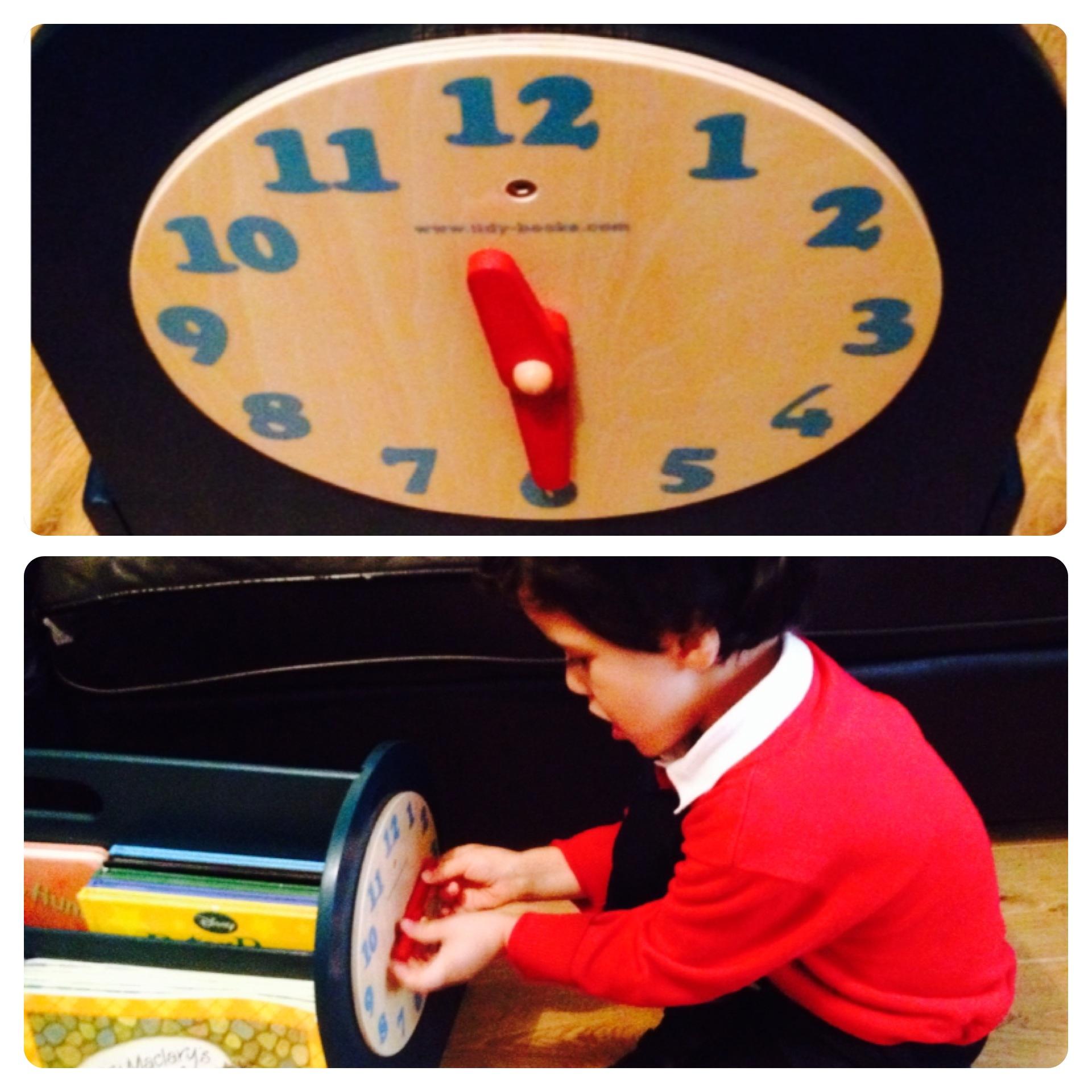 Tidy Books Box Play Clock