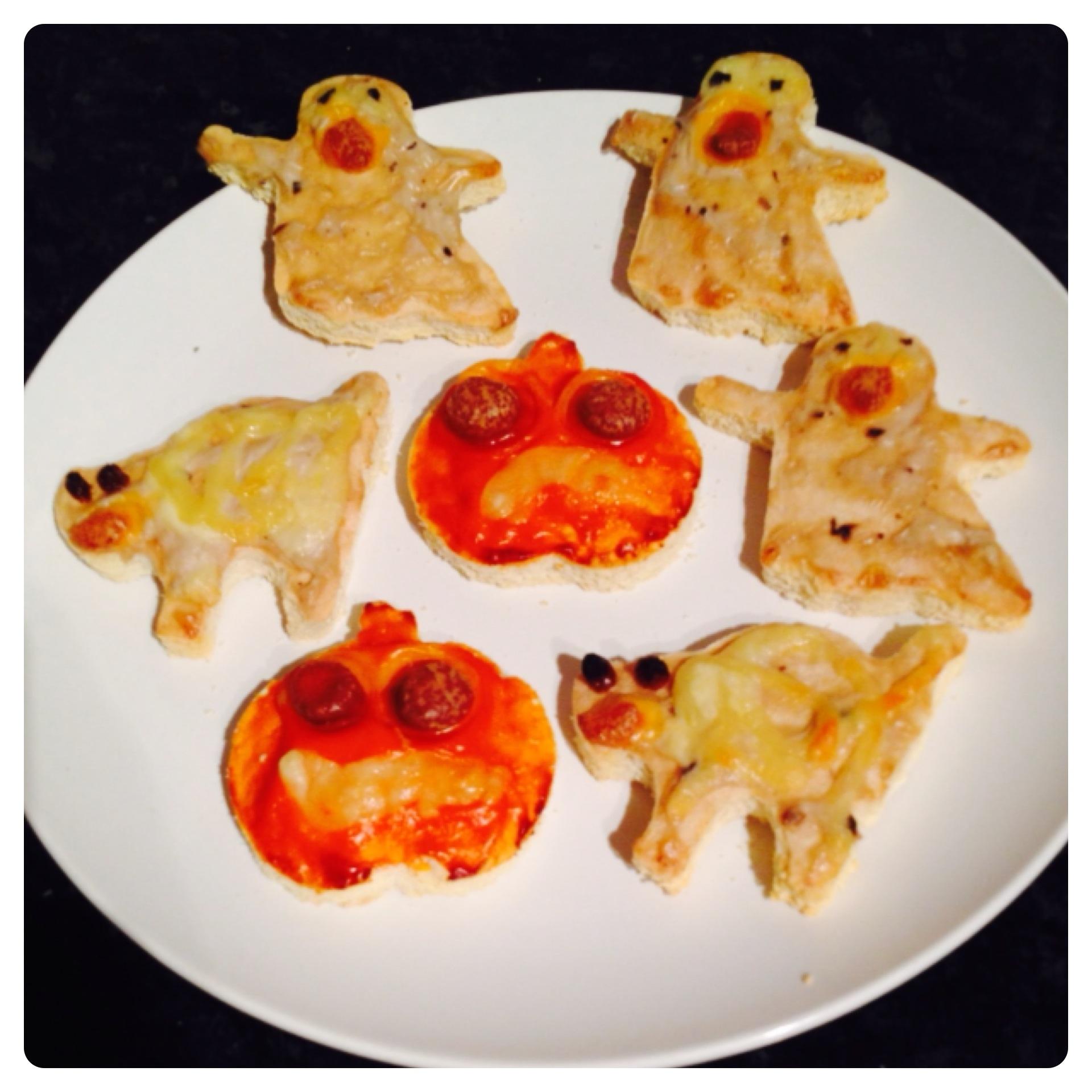 Spooky Halloween Pizzas