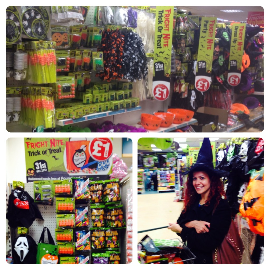 Shopping for Halloween at Poundland