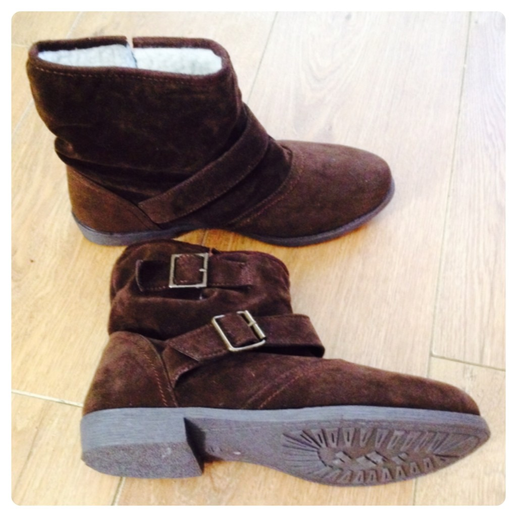 gorgeous brown slouch buckle boots by shoe zone lilinha