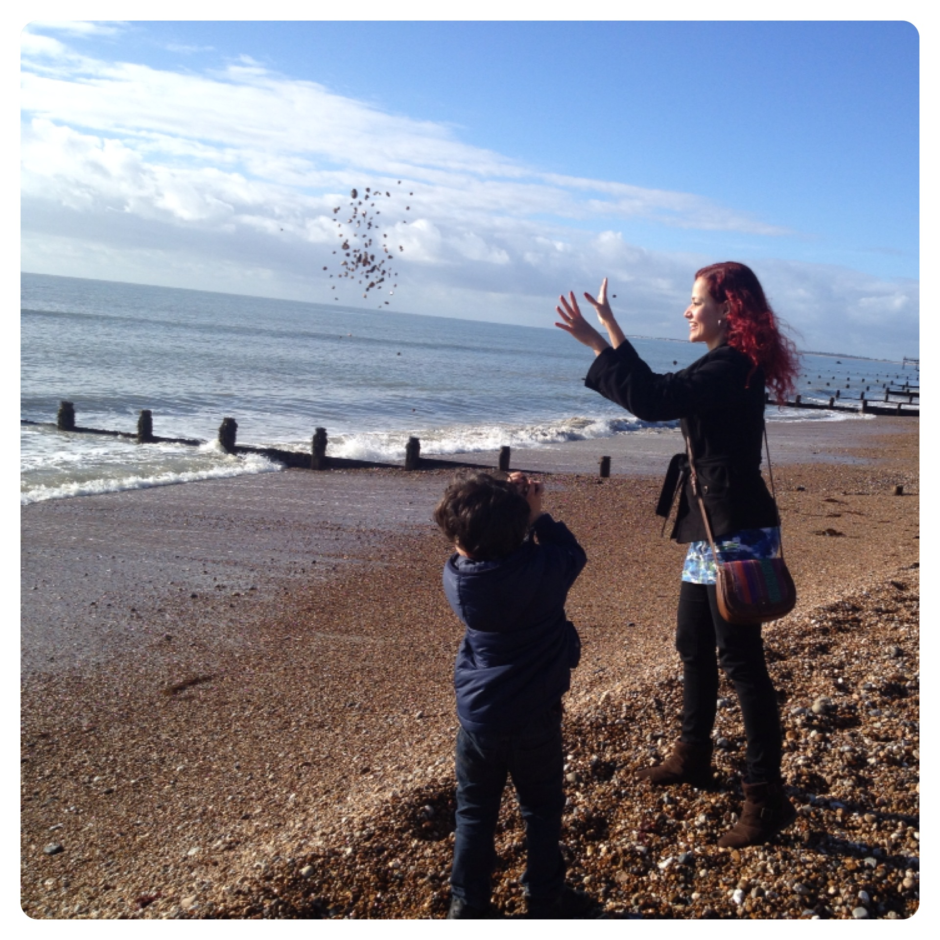 Throwing Stones at the Sea
