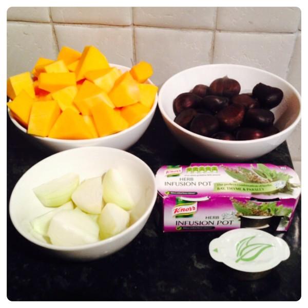 Chestnut and Butternut Squash Ingredients