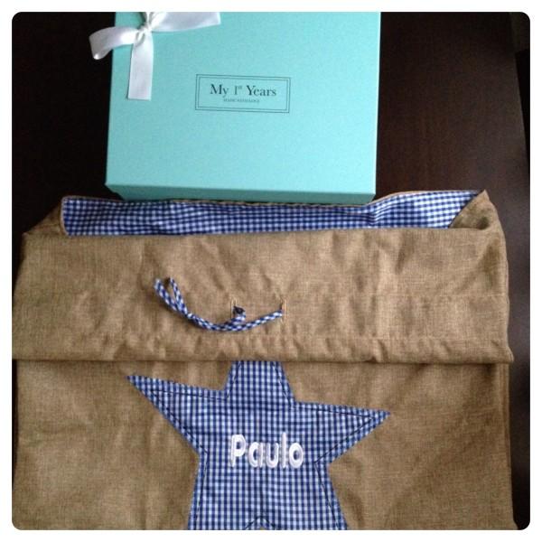Blue Hessian Gift Sack