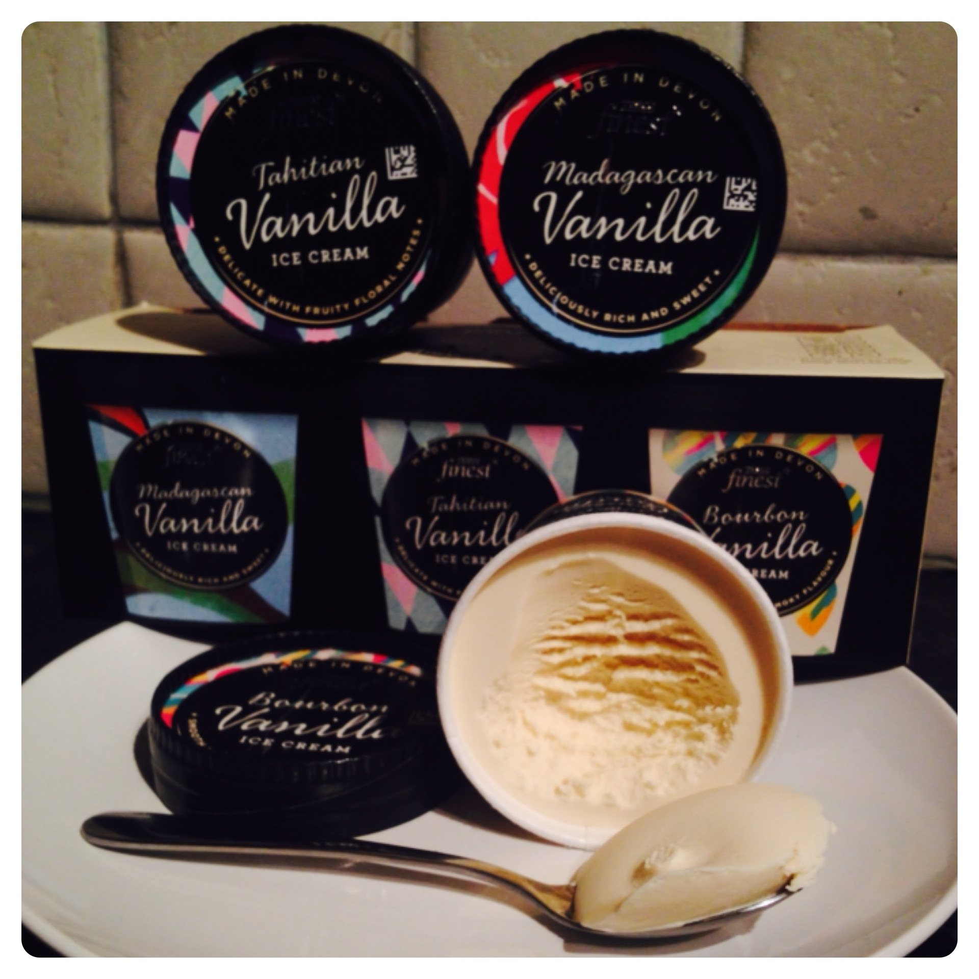 Tesco finest* Vanilla Origin Ice Cream Selection