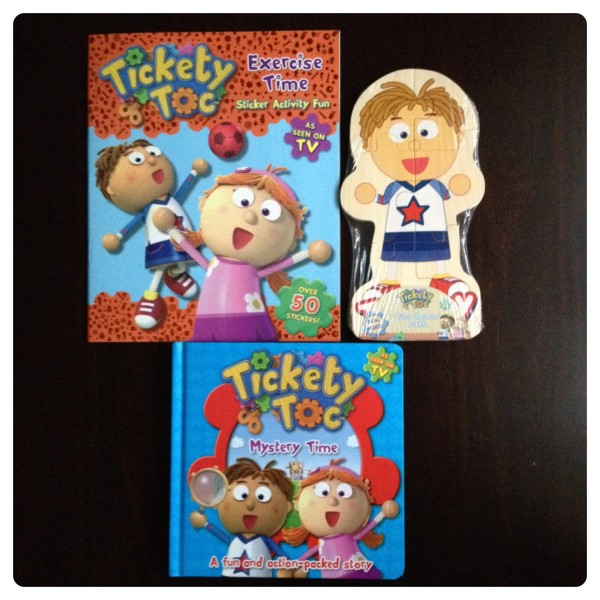Tickety Toc Stickers, Puzzle and Book