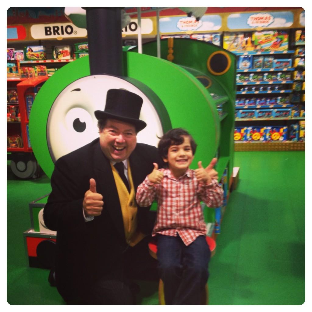 Little Man Meeting The Fat Controller