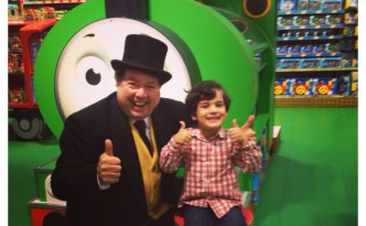 Little Man Meeting The Fat Controller